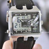 OHSEN Free ship Hot!! 2 Time Zones Digital Display Mens Lady Cool Watch Men's watch Wrist watch