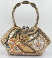 Handmade Beaded Bag, Beaded Promotion, Evening Bag, Floral Beaded Bag, Elegant Bag+Free Shipping+Wholesale073/27B
