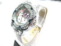 20pcs/lot New Hello Kitty Crystal Wrist watches Fashion Watch Women's Watch