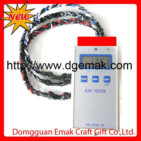 2011 Fashionable germanium titanium silicone energy balance health necklace Wholesale/retail(China (Mainland))