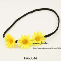 Free shipping! Wholesale-hair accessories plait hairband with flower 24pcs/lot