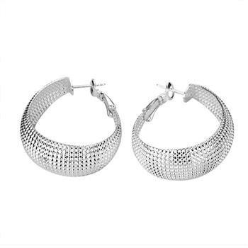 Бесплатная доставка 925 серебряные серьги, Ручка серьги, 925 серебряные серьги оптовая продажа ювелирных изделий E042