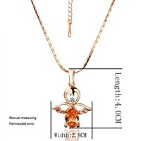 Freeshipping,18k rose gold plated necklace,Rhinestone Crystal necklace,gold necklace,mulitcolors pendant necklace,necklace