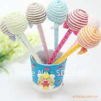 Free Shipping 300pcs/lot lollipop shape pen, lollipop ball pen, gift pens