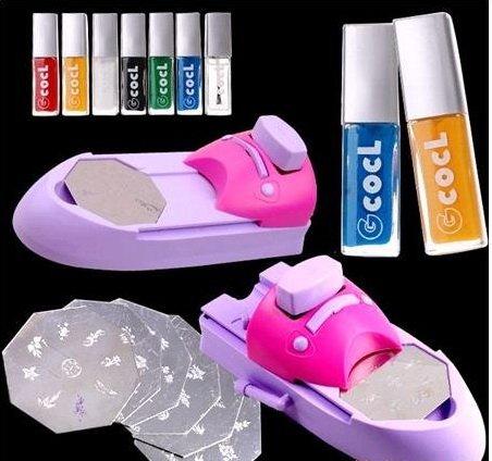 Free shipping!!!Nail art stamping machine/Nail colors machine/DIY nail printing(China (Mainland))