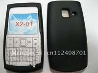 100pcs/1 lots freen shipping,silicon case black color for nokia x2-01
