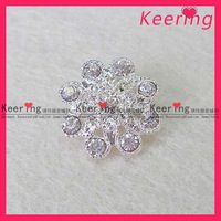 New Silver Clear Crystal Rhinestone Button For Wedding Bouquet,large stock( WBK-369)