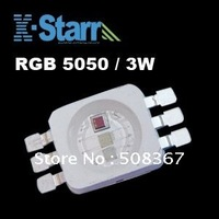 Top Quality 3W/5050 RBG SMD LED High brightless led emitting source, 50pcs/lot,2 years Warranty+Free shipping