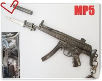NEW Great Cross Fire Metal  MP5 Submachine Gun with Silencer& Bayonet keychain in box
