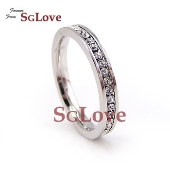 SGLOVE WHOLESALE - 18K WG WHITE GOLD GP  ANNIVERSARY BAND ETERNITY RING + FREE SHIPPING