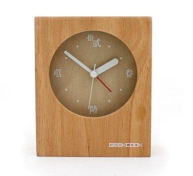 wood desk clock designs