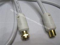 RF male to SMA female wireless wi-fi wifi antenna cable 1.8m white freeshipping