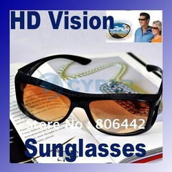 HD High Definition Vision Driving Wrap Around Sunglasses Wraparounds Glasses Free Shipping(China (Mainland))