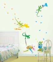 wall lizard Wall paper house sticker Free shipping