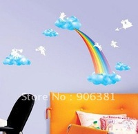 rainbow Wall paper,wall sticker,wall decal,house sticker Free shipping