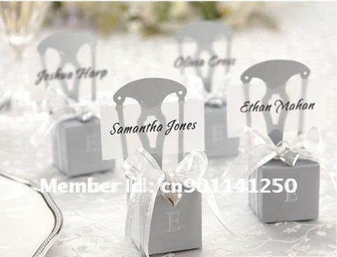 Free shipping to Europe+Qaulity Guarantee 150pcs/lot Miniature Silver Chair Favor Box (real photo attached) TOP SUPPLIER(China (Mainland))