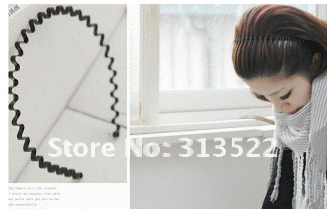 Free shipping 200pcs/lot Korean Fashion wave design hair band hair accessories hair ornament hair decoration(China (Mainland))