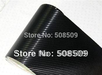 1.52*30m/roll air free bubbles backside 3D Carbon Fiber Vinyl car stickers Decals Guaranteed 100% free shipping cfvw30m