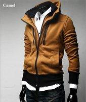 Free shipping Casual trend styling Men's Slim Sexy Hoody Jacket South Korea sweatshirt High collar coat men's jackets
