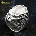 Free Shipping - Aliens Vs Predator AVP Hunting Ring Plated Silver