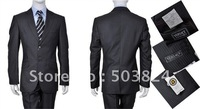 LH @03001 black  men suit,Free shipping,Wholesale Price,Custom-Made Size and Color,party and wedding suit,accept PAYPAL