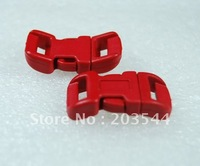 "1/2""Plastic Contoured Curved Side Release Buckles 1000pcs Package For Paracord Bracelet  Webbing 11mm #FLC039-C (Red)"