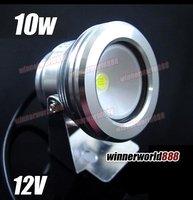 100% Guaranteed  ! ! ! Cool  White 10W 12V waterproof LED Floodlight  +Free  Shipping