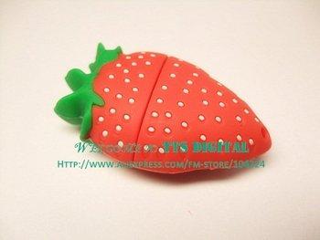 Free shipping Strawberry shape USB flash drive 4GB novelty deisgn usb stick flash memory