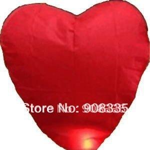 AL-29 20pcs x Heart Fire Sky kongming Lantern Flying Paper Wish Balloon valentine party gift
