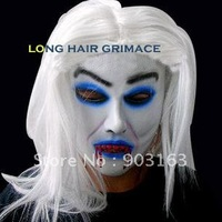 Wholesale 1Xpcs Halloween mask emulsion masks masquerade super white mask - terror + free shipping