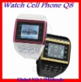 Free shipping Q8 Quadband Mobile Watch Phone with1.33&quot;Touch LCD, 2.0MP Pinhole Camera,Dual SIM Dual Standby,Bluetooth