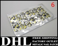 DHL Free Shipping wholesale Acrylic Nail Art Gallery, nail foils, NEW Nail Fashion Film Nail Patch Art Produc