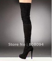 Black Boots--- Hot Sale Fashion Women's High-heel Knee Boots &Free Shipping