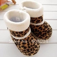 Yellow Snow Leopard Boots kids snow boot soft baby boNEW BOOTS kids snow boot soft baby boots 10 pairs/lot free shipping