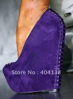 Priced direct selling! Contracted fashion platforms Pumps Frosted surface High-heeled wedges women's shoes size 34-41