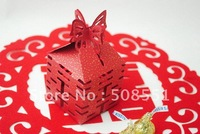 Free shipping wholesale and retail  paper wedding box