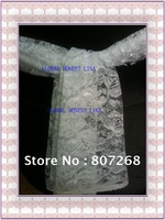 Free shipping   2100 new fashional white lace chair sash  for the wedding