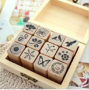 Free Shipping/funnyman series 2 wooden stamp gift set/DIY stamp/Iron Box/multi-purpose Decorative DIY funny work/Wholesale