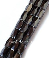 wholesale price 5mm*8mm faceted black magnetic hematite beads free shipping 1800pcs/lot