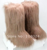 Wholesale free shipping  2011 Newest Fashion brown Snow Boots, Long Furs Boots, Women's Tall/Short Snow Boots