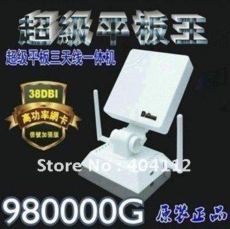 Free dhl/ups shipping!Black diamond USB Adapter 38dBi 3800mW High-Power 980000G Clipper b/g Long Rang High Sensitivity