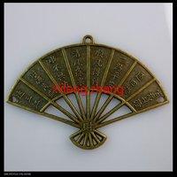 Free shipping 100 pcs/lot 40x57mm Fan shape zinc alloy pendants charms wholesale