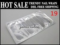 DHL Free Shipping wholesale Trendy nail wraps/ nail art sticker / nail patch/ nail foils 16pcs/set
