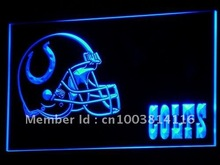 b322-b Indianapolis Colts Helmet NR Neon Light Sign(China (Mainland))
