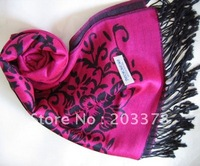 Free shipping WOMEN Rose design CASHMERE SCARVES SHAWL SCARF ponchos wrap 10PCS/LOT hot MANY COLOR