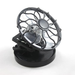 Clip-on Solar Sun Power Energy Panel Cooling Cell Fan ideal for outdoor activities(China (Mainland))