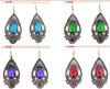 nice fashion mixed style color Tibetan Silver charm dangle turquoise Crystal eardrop Earrings er245-48