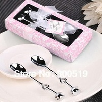 JJ142 Novelty Wedding Gift Lovely Spoons Set Hot wedding giveaways 12sets/lot Free Shipping