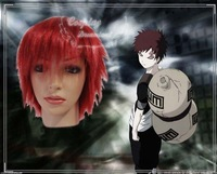 Wholesale Free Shipping Hot Selling Cheapest Halloween Naruto Cosplay Wig Gaara Wig