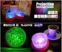 new arrive wholesale 12pcs/lot  cake light Star Lamp  star  projection  light love lamp  good  Quality